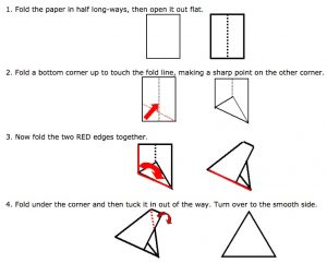 Folding an equilateral triangle