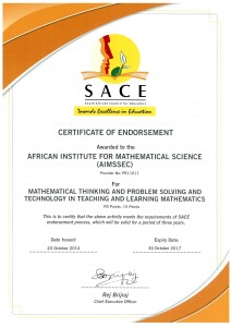 sace south africa_AIMSSEC gets SACE endorsement for MT Course - AIMSSEC