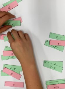 Exponent cards