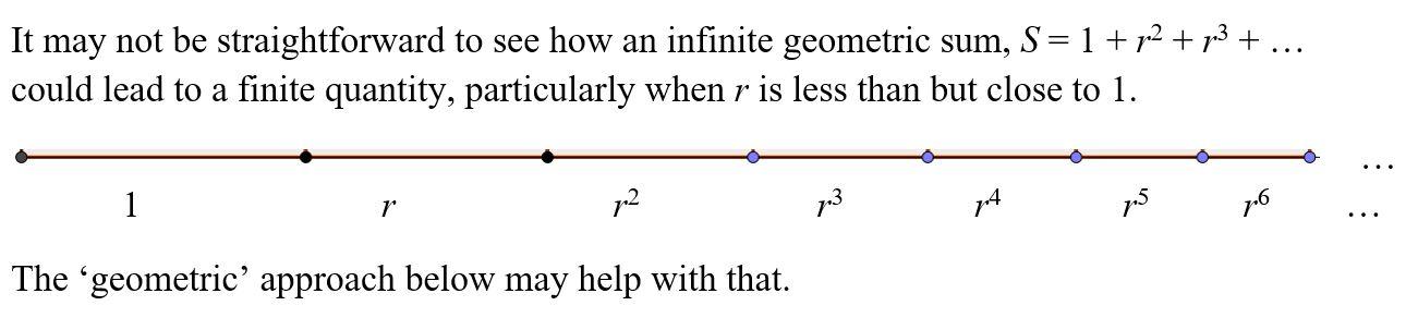 Geometric sum intro